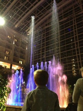Gaylord National Resort & Convention Center: Fountain/light/music show in the main area.