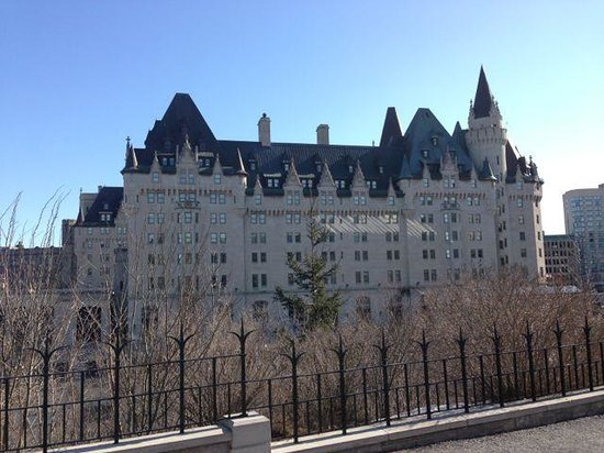 Fairmont Chateau Laurier: As seen from the parliament buildings