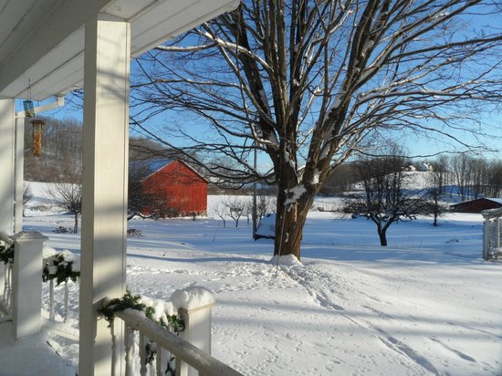 Salem, NY: Winter View from Porch