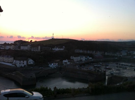 Porthleven, UK: View from a 'Harbour View' room at sunset