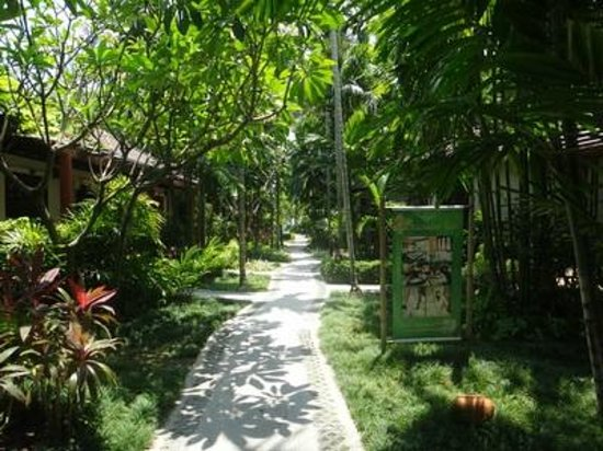 Baan Chaweng Beach Resort & Spa : Pathway from beach to your villa