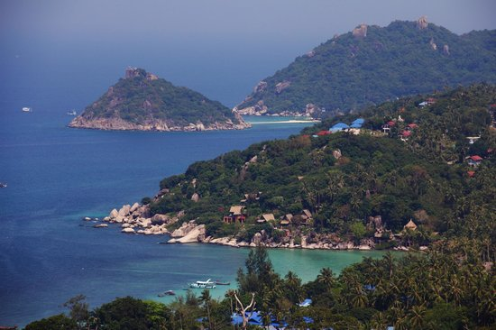 Koh Tao Star Villa: Blick zu Koh Nang Yuan