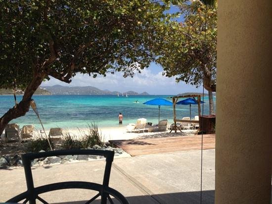 The Ritz-Carlton Club, St. Thomas: lunch view from Coconut Cove