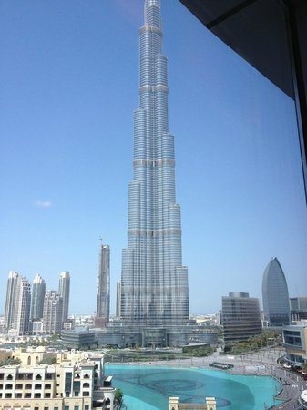 View from room of the dubai mall picture of the address for Burj khalifa room rates per night
