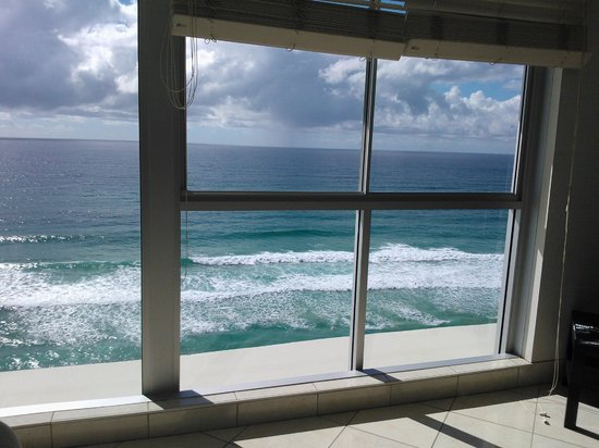 Golden Sands Holiday Apartments: view from 1302 living room window