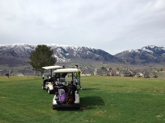 Eden, UT: You can see the condos in the background right off this golf course.