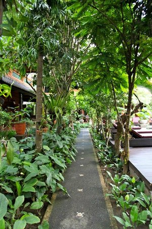 Puri Garden Hotel &amp; Restaurant: Beautiful Walkway Through Gardens