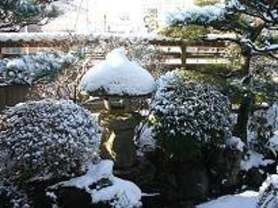 Inabe, Japan: The Japanese Garden in winter