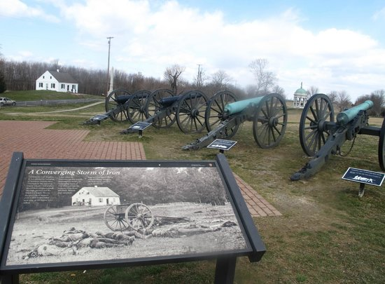 Sharpsburg, MD: Dunker Church and Confederate artillery