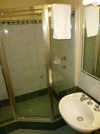 Criterion Hotel Perth: Ensuite shower