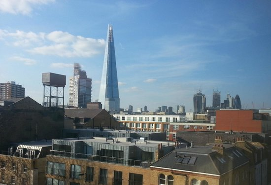 The Bermondsey Square Hotel: View of Shard from Room 512
