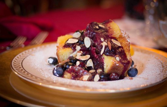 Dundee, NY: Blueberry Stuffed French Toast with House-made Brioche