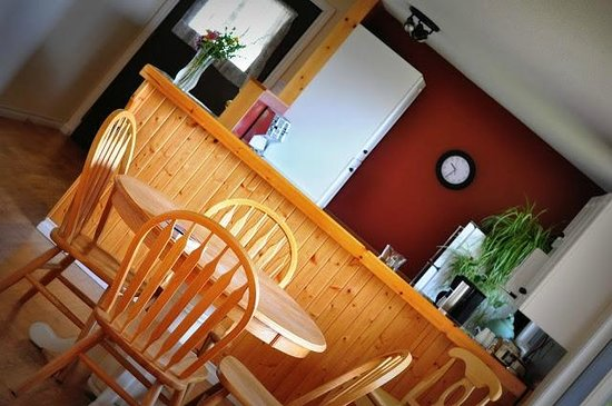 B&B at Salt Spring Apple Company: Dining and kitchen areas in the main B&B