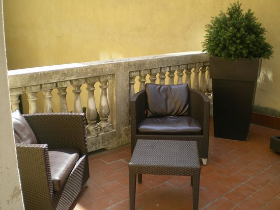 BEST WESTERN PREMIER Hotel Cristoforo Colombo: Out on the balcony