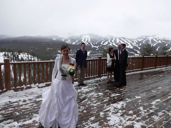 The Lodge and Spa at Breckenridge: View of Wedding Ceremony site