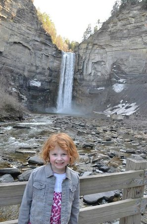 Trumansburg, NY: The falls from the end of the gorge trail