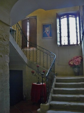 Domaine de Rhodes: stairs to the rooms