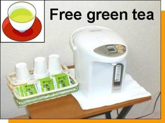 Business Hotel Mikado: Free green tea