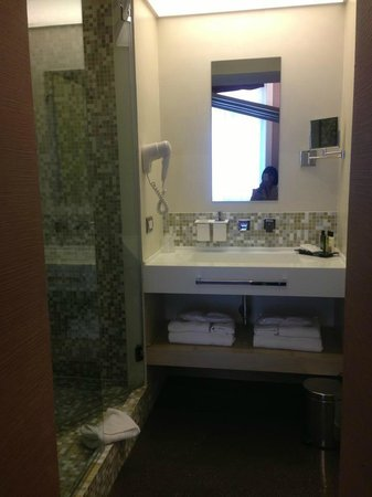 Hotel Dharma: another view on the bathroom - open concept and no enclosed door