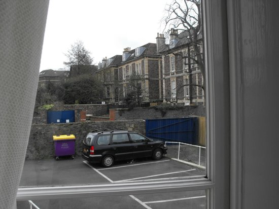 Clifton House: View not brilliant, but can keep an eye on the car ok