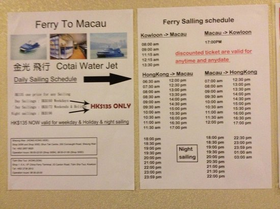 Golden Crown Guesthouse: Discounted ferry prices