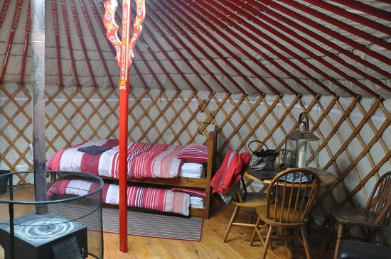 Keld, UK: Within yurt