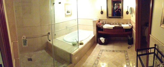 The Rose Hotel: spacious bathroom large 1 person tub