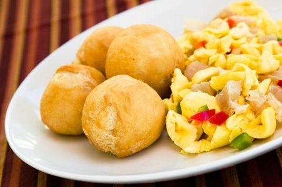 Jamaican Breakfast Our National Dish Ackee And Saltfish With Fried Dumplings Picture Of Tim