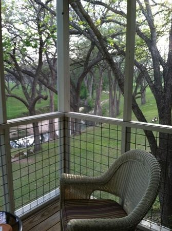 Meyer Bed and Breakfast on Cypress Creek: View from room 351