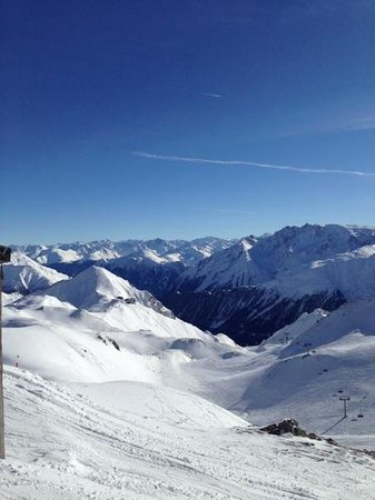 Hotel Post Ischgl: amazing panorama and ski conditions in Ischgl