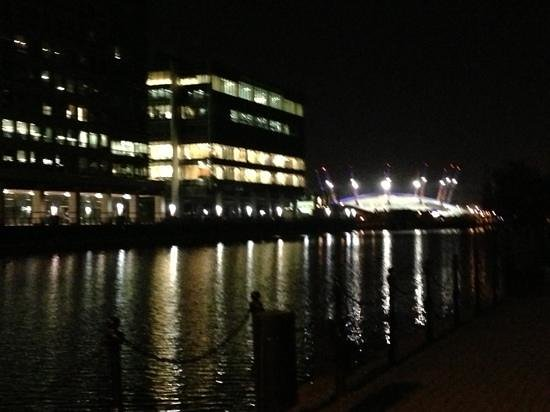 Hilton London Canary Wharf: view from river next to hotel!