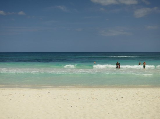 Las Palmas Maya: The beach across the street. 30 second walk from Las Palmas!
