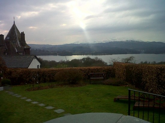 Holbeck Ghyll Country House: view from our cottage with hot tub