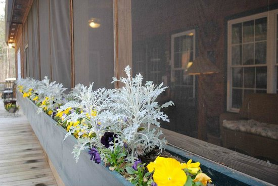 Long Mountain Lodge: Front porch flowers