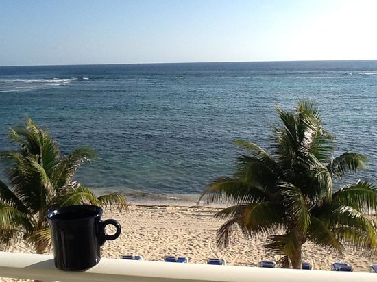 morning coffee on beach