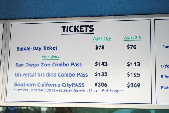 Seaworld california tickets coupons
