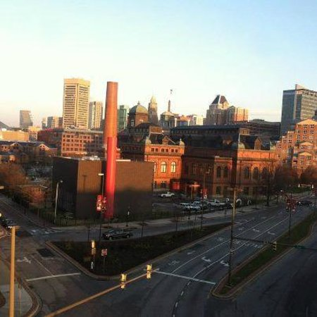 Homewood Suites by Hilton Baltimore: The only panoramic part of the view, downtown Baltimore.