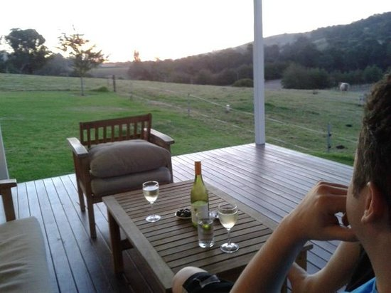 Burekup, Australien: View of the sunset from the back Verandah