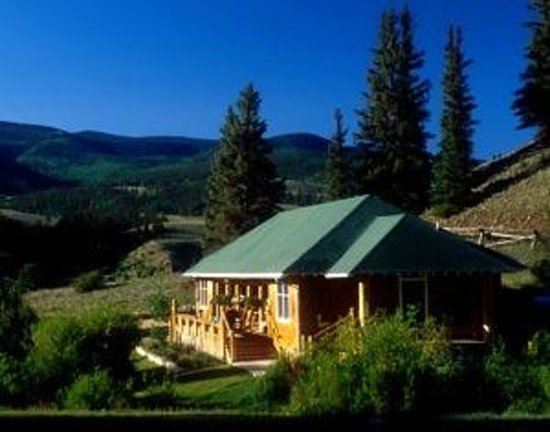 Creede, CO: The Holy Moses Cabin at the 4UR Ranch.