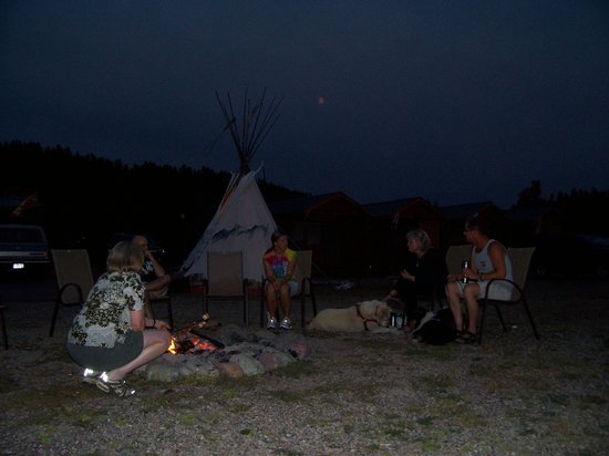 Coram, MT: Teepi in the Moonlight by the campfire