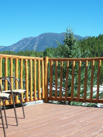 Coram, MT: Relax on the deck enjoying the views