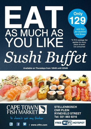 Join us on our all you can eat sushi picture of cape for All you can eat fish