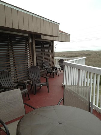 Mustang Island Beach Club: Unit 201 Deck