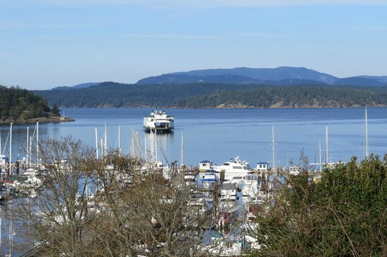 Friday Harbor House : Can still watch the ferries come in
