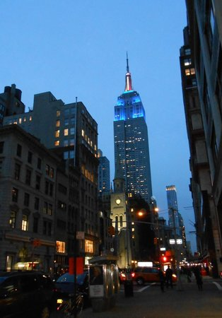 The Gershwin Hotel: View of the Empire State Building from 27th East St corner