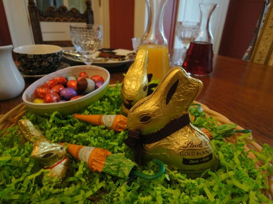 South Court Inn Bed and Breakfast: Sunday morning Easter goodies