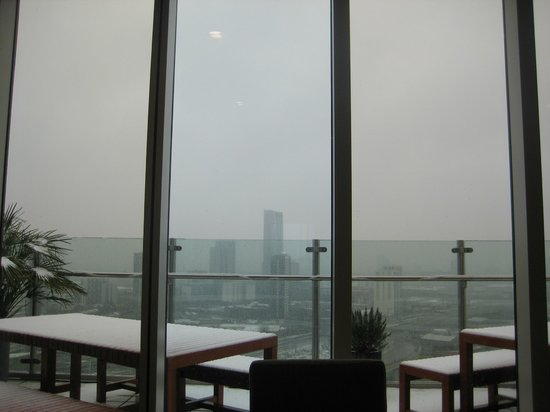 Staybridge Suites London-Stratford City: View from the Dining Area with Terrace