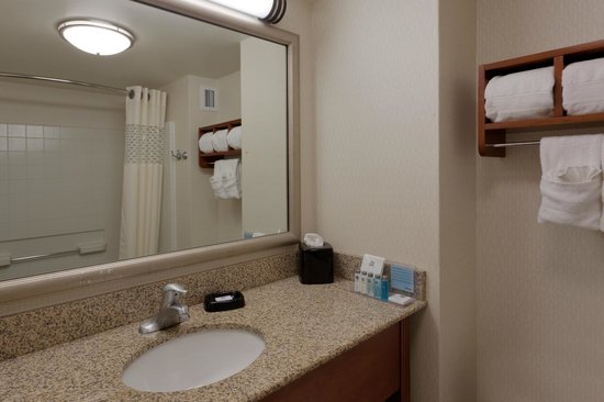 Hampton Inn Manassas: Guest Bathroom