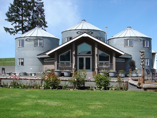 "Abbey Road Farm B&B: Front view of  ""Silo Suites"""