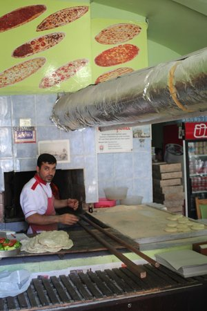 Basileus Hotel: Neighborhood Pide maker you find walking the other direction